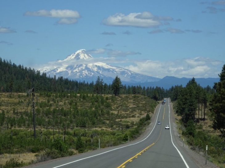 A familiar view of Mt Hood from Oregon Hwy 26