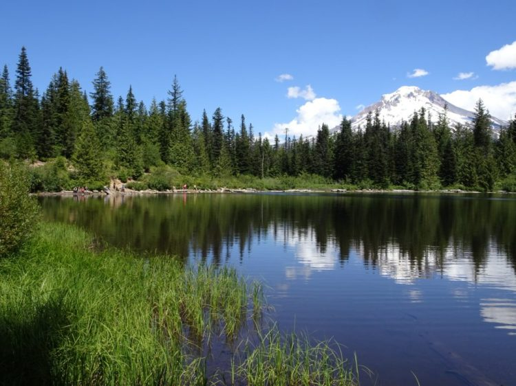 Mirror Lake with Mt Hood in the background