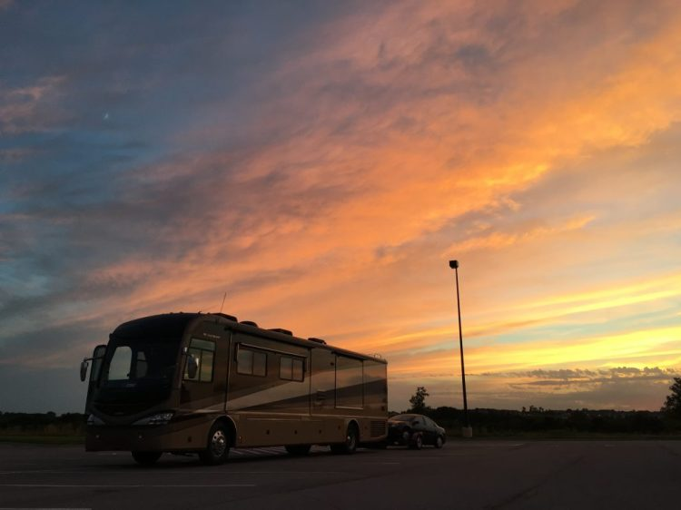 Walmart in Gretna, Nebraska. Pulling into the spot right before this sunset.