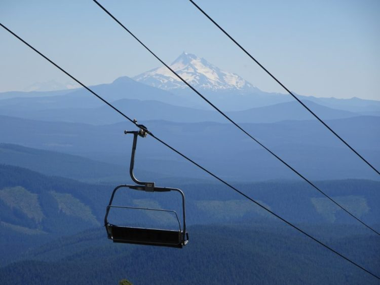 View of Mt Jefferson from ski area section of Timberline Trail