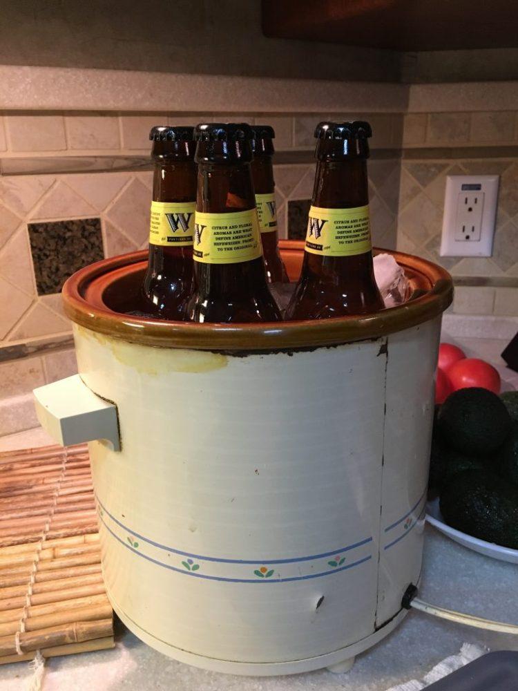 Crock-Pot beer cooler