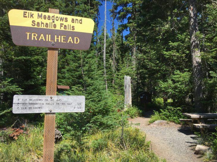 Mt Hood Meadows Trail starts from Elk Meadows trailhead.