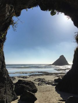 Sea cave at Heceta Head