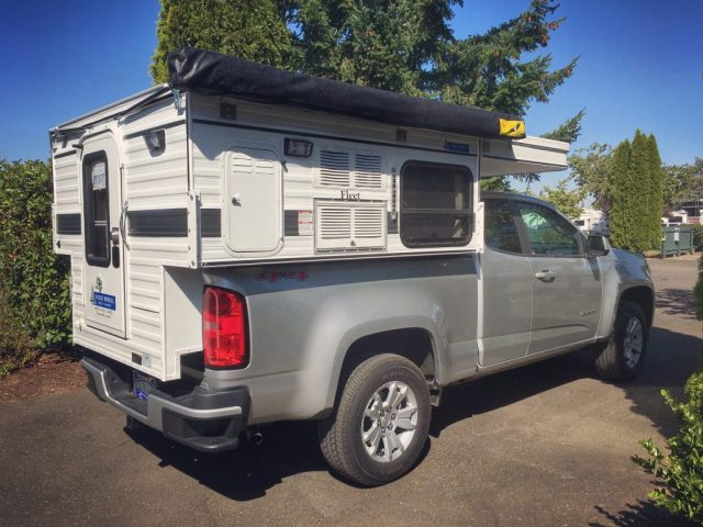 Our new Four-Wheel Camper freshly mounted on Ren