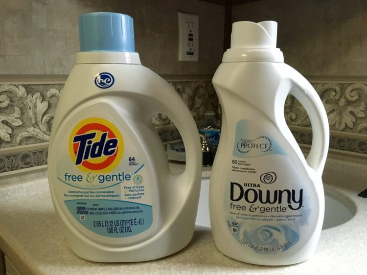 Our fragrance-free laundry detergent and fabric conditioner