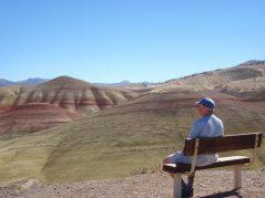 David's enjoying the Painted Hills.