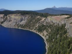 Mt Thielsen from Crater Lake National Park
