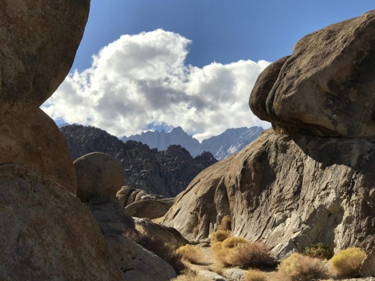 Mt Whitney from our boondocking spot