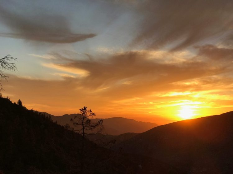 Gorgeous sunset at Angeles National Forest