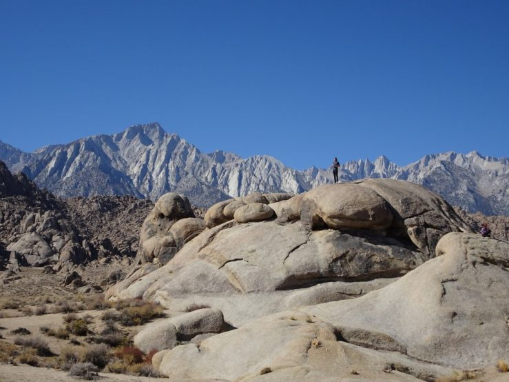The Alabama Hills with Sierra Nevada Range in the background