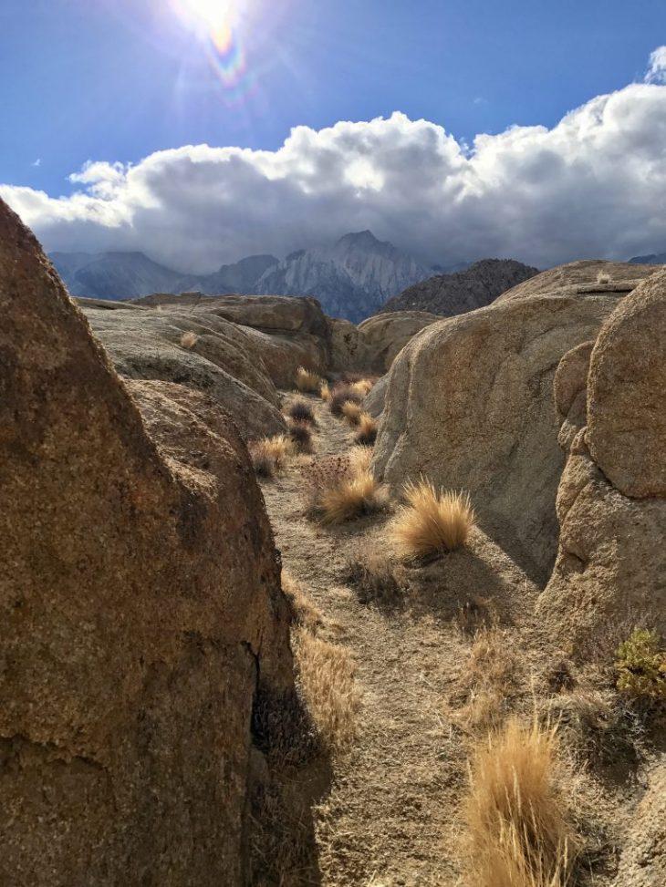 Cloud looming over the Sierra