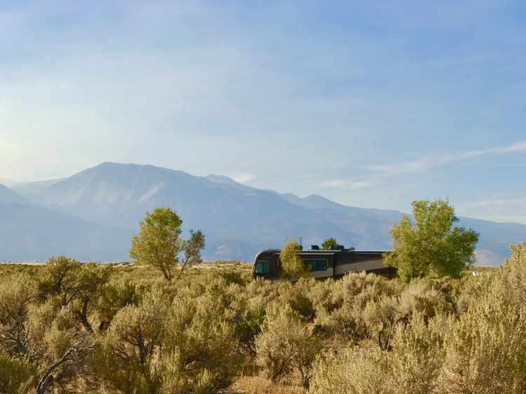 Camp sites at Washoe Lake State Park were nicely built to blend in with the nature around it.