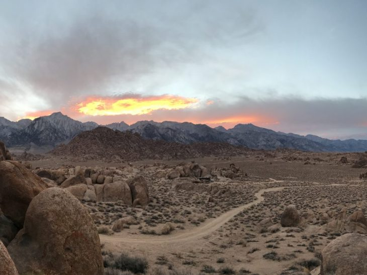 Fiery Sunset over Mt Whitney
