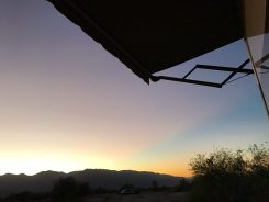 Nice sunset at Furnace Creek Campground