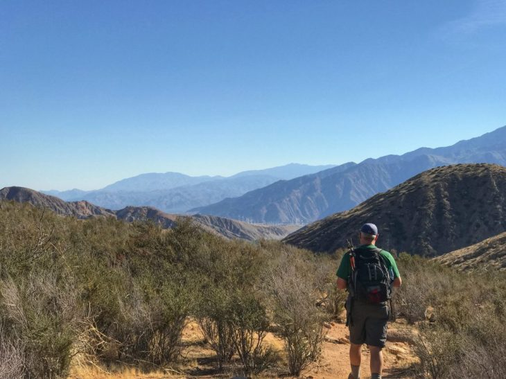 From the top of the trail looking toward Palm Springs