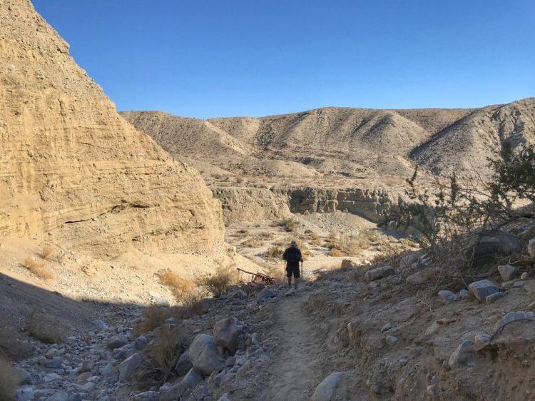 Hiking down to Pushawalla Canyon