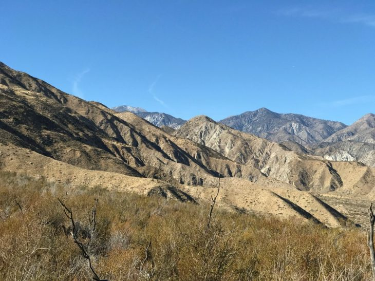View from the top of the trail looking toward the San Gorgonio Wilderness