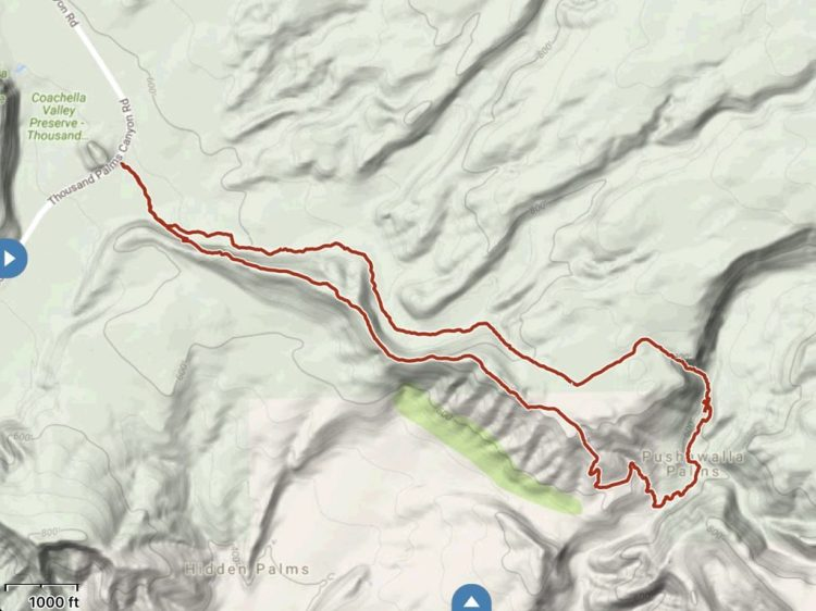 GPS track of the hike. We did this loop hike clockwise.