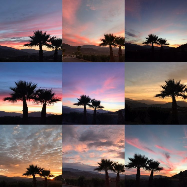 Sunsets in Acton, California