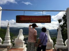 Looking down to the town of Mae Hong Son from the temple.