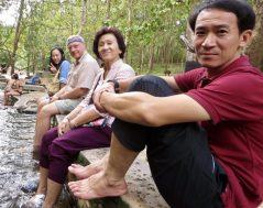 Relaxing at Pong Nam Ron Tha Pai hot springs