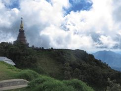 Chedi on top of the hill