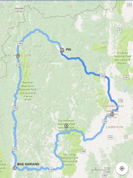 We started from Chiangmai headed toward Pai.