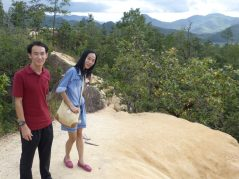 Exploring geological feature of Pai Canyon