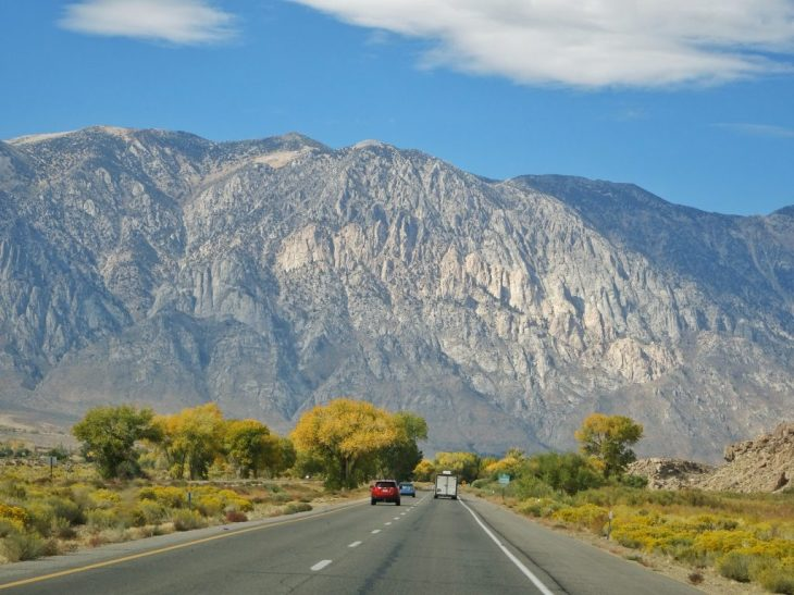 Towering mountains west of Bishop, California