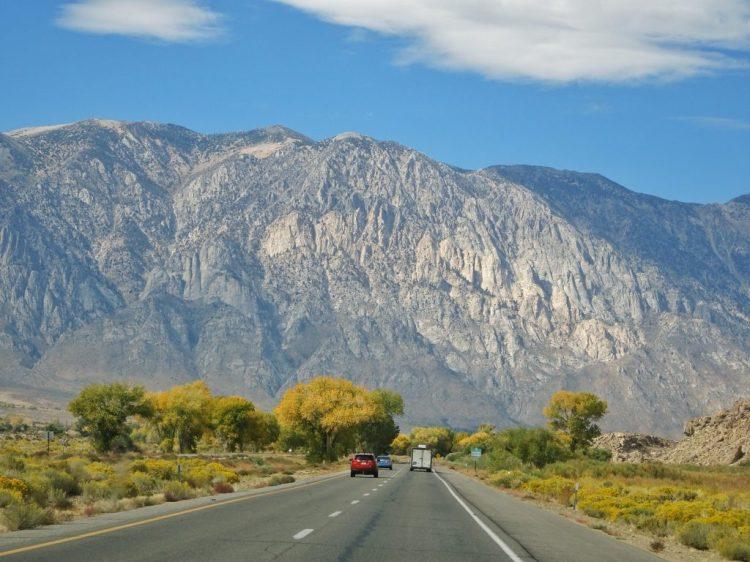 Towering mountains west of Bishop, California