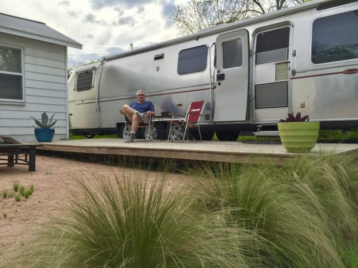 Staying in Austin in a cool Airstream via Airbnb
