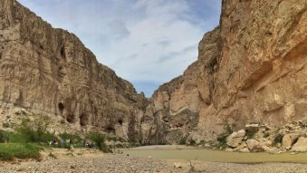 View of Boquillas Canyon. The US is on the left of the river. Mexico is on the right.