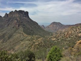 View of Casa Grande and the Window from Lost Mine Trail