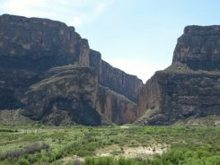 Impressive Santa Elena Canyon from an overlook