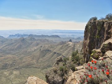 Chisos Mountains and the Chihuahuan Desert from the South RIm