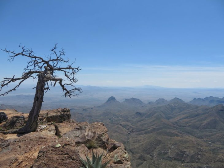 This expansive view from the South Rim alone is worth the 12-mile hike with 2000-ft elevation gain.