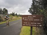 At Nāpau Trailhead. Looked like it might rain, but it wasn't going to stop us.
