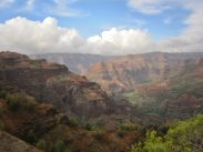 Cloud moving in over Waimea Canyon